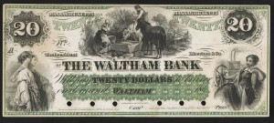 Waltham Back $20 bill. Credit: Library of Congress.