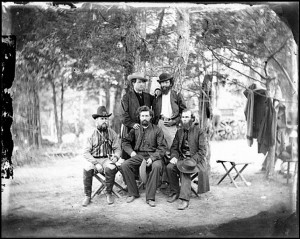 A group of the Irish Brigade, Harrison's Landing , Virginia, July 1862. Credit: Library of Congress.