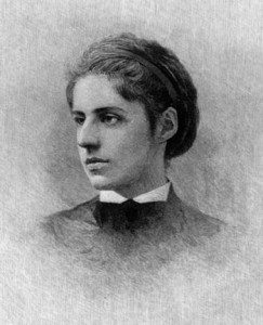 Poet Emma Lazarus, who penned the sonnet that has come to define the Statue of Liberty for Americans today. Wikimedia Commons.