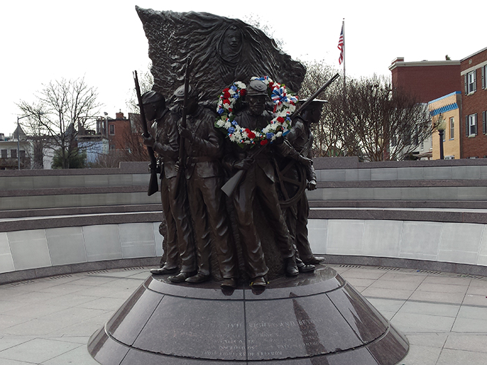 The Spirit of Freedom, a memorial to the African American soldiers who served in the Civil War.