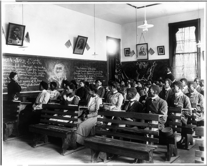 An image of a history class, Tuskegee Institute, Tuskegee, Alabama, 1902. Source: Library of Congress