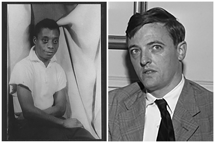 James Baldwin portrait (left) by Carl Van Vechten, Sept. 13, 1955. Source: Library of Congress. William F. Buckley by Los Angeles Daily News, May 1, 1954. Source: Wikimedia Commons